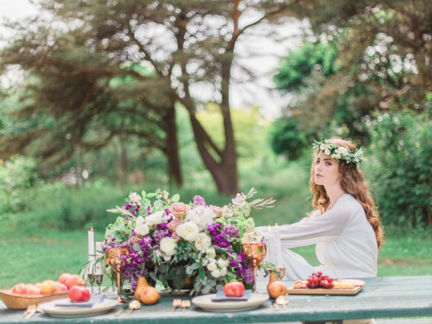 Bride picnic table