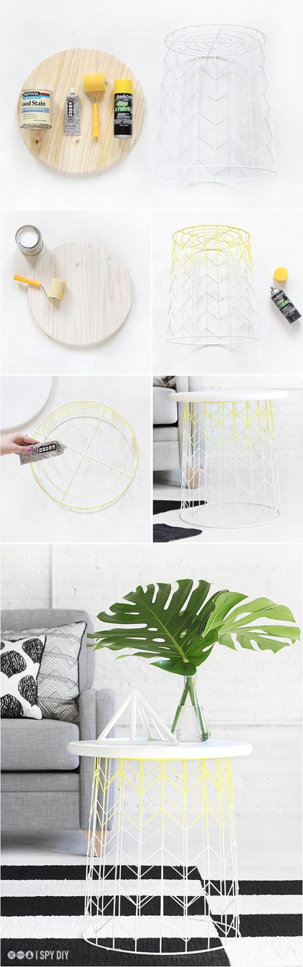 Materiales mesa DIY