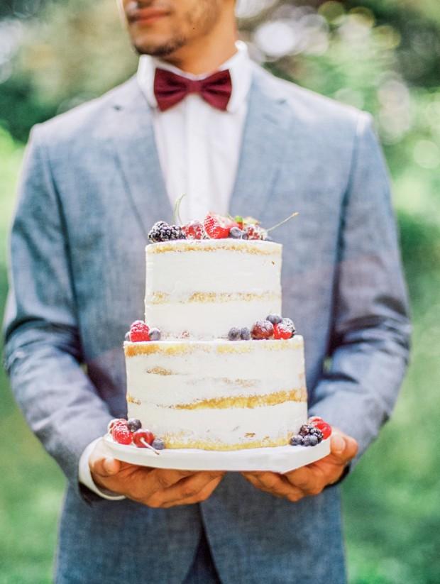 Nacked wedding Cake