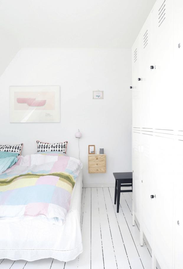 White colour bedroom