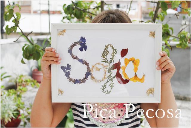 Haz un cuadro de tu nombre con flores secas - Handbox Craft Lovers ...