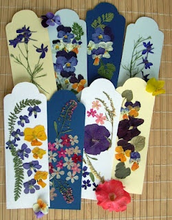 pressed flowers bookmarks handmade, diy: