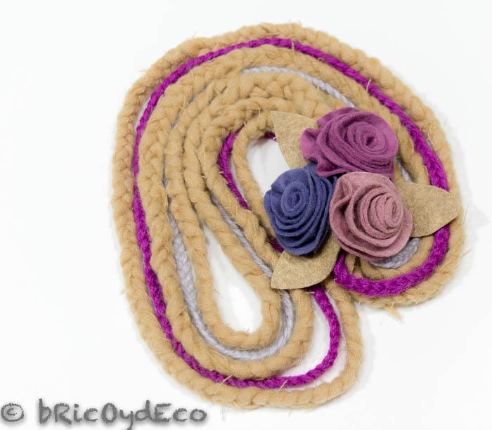 reciclar-bufanda-en-un-collar