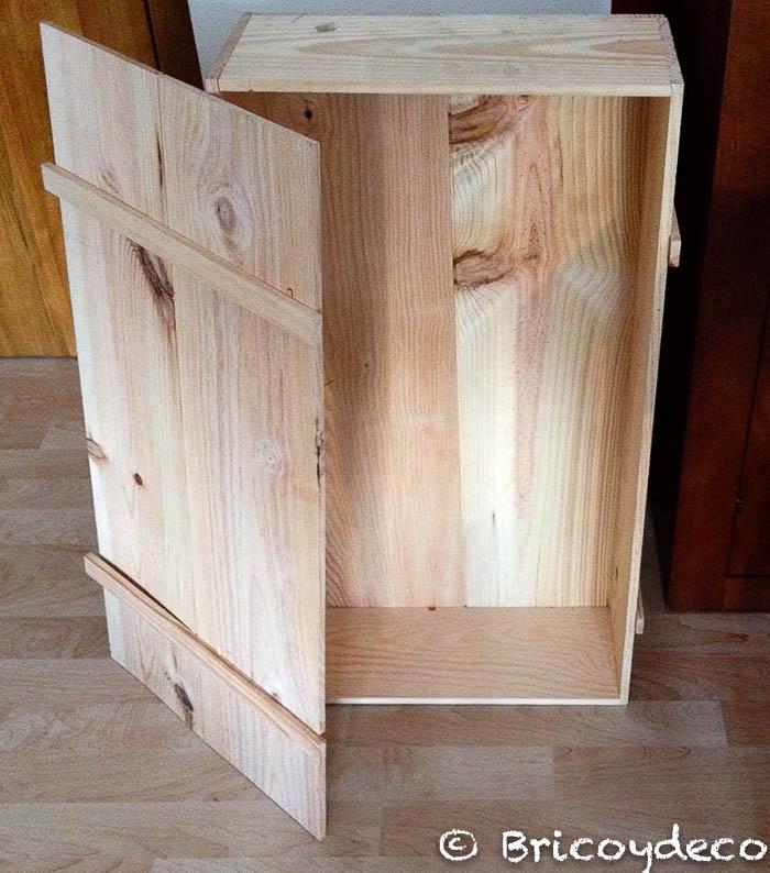 caja de madera para reciclar