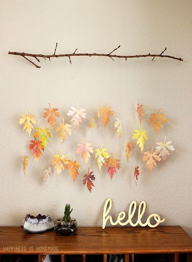 30 manualidades para decorar con hojas secas en otoño - Handbox ...