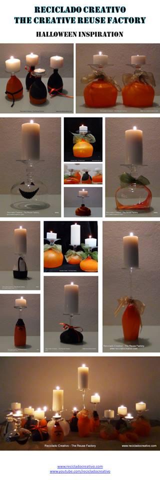 Copas decorativas para Halloween realizadas con globos