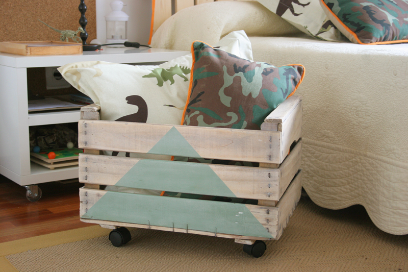 Diy juguetero con caja de fruta de madera handbox - Caja fruta decoracion ...