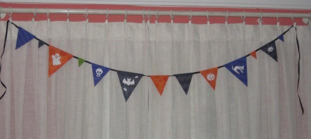 Guirnalda de banderines para halloween