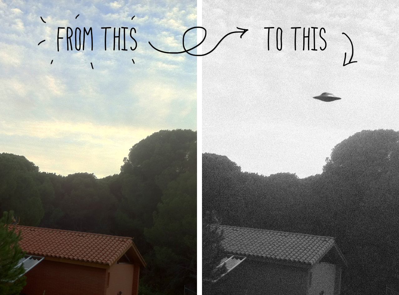 Make your own UFO photo