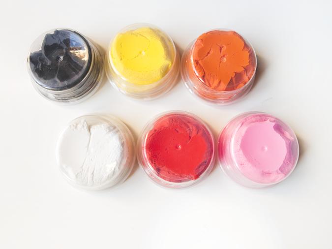 Colores de la pasta