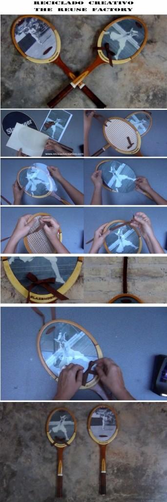Cómo convertir unas raquetas en marcos para fotos