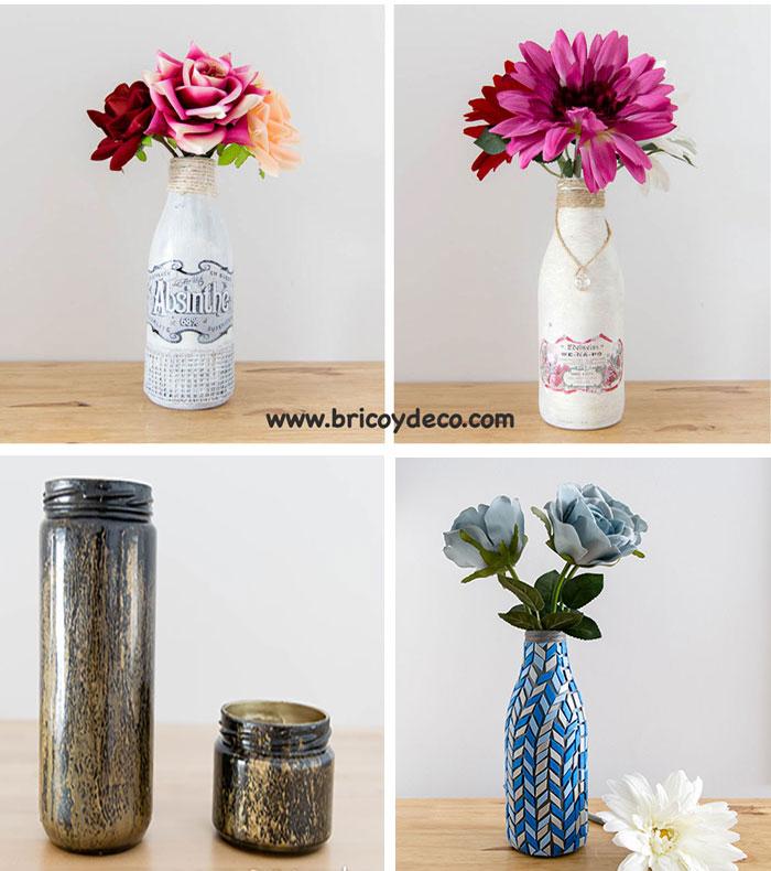reciclar vidrio para convertirlo en objetos de decoración