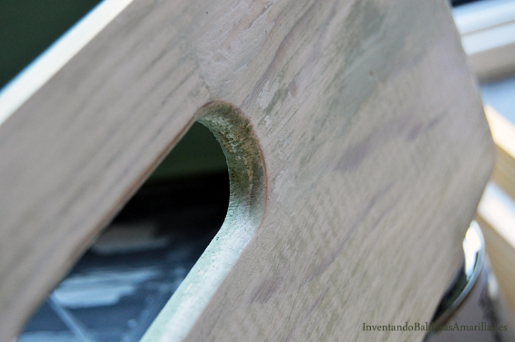 efecto desgastado en madera