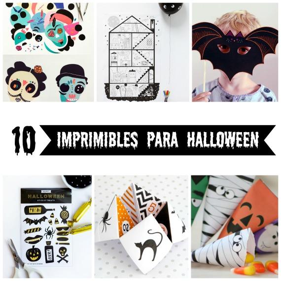 10 imprimibles gratuitos para celebrar Halloween - Handbox Craft ...