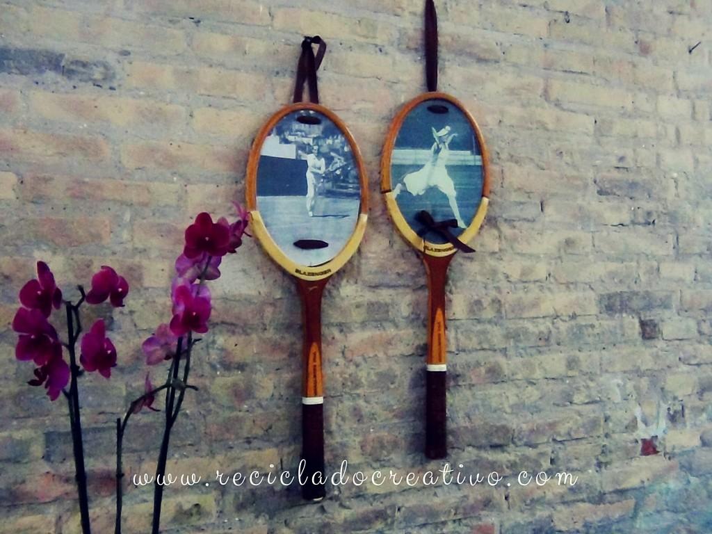 Raquetas de tenis reconvertidas en marcos de fotos (13)