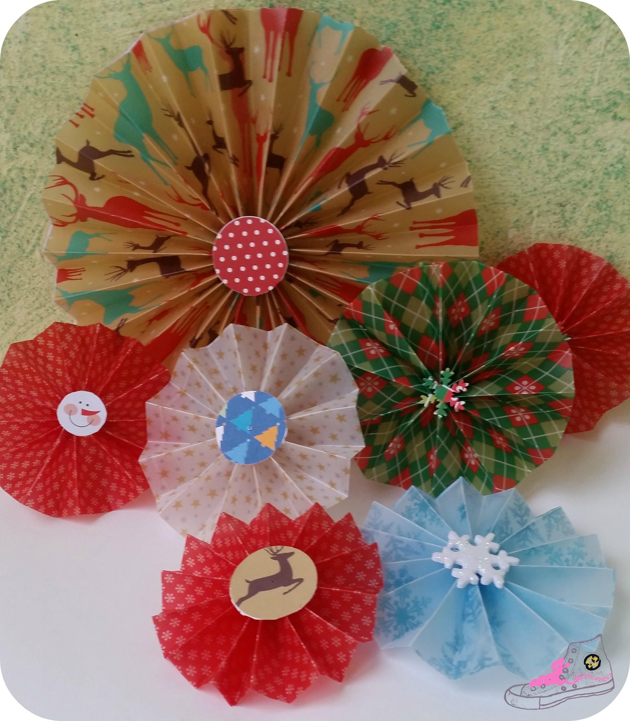 rosetones de papel para navidad