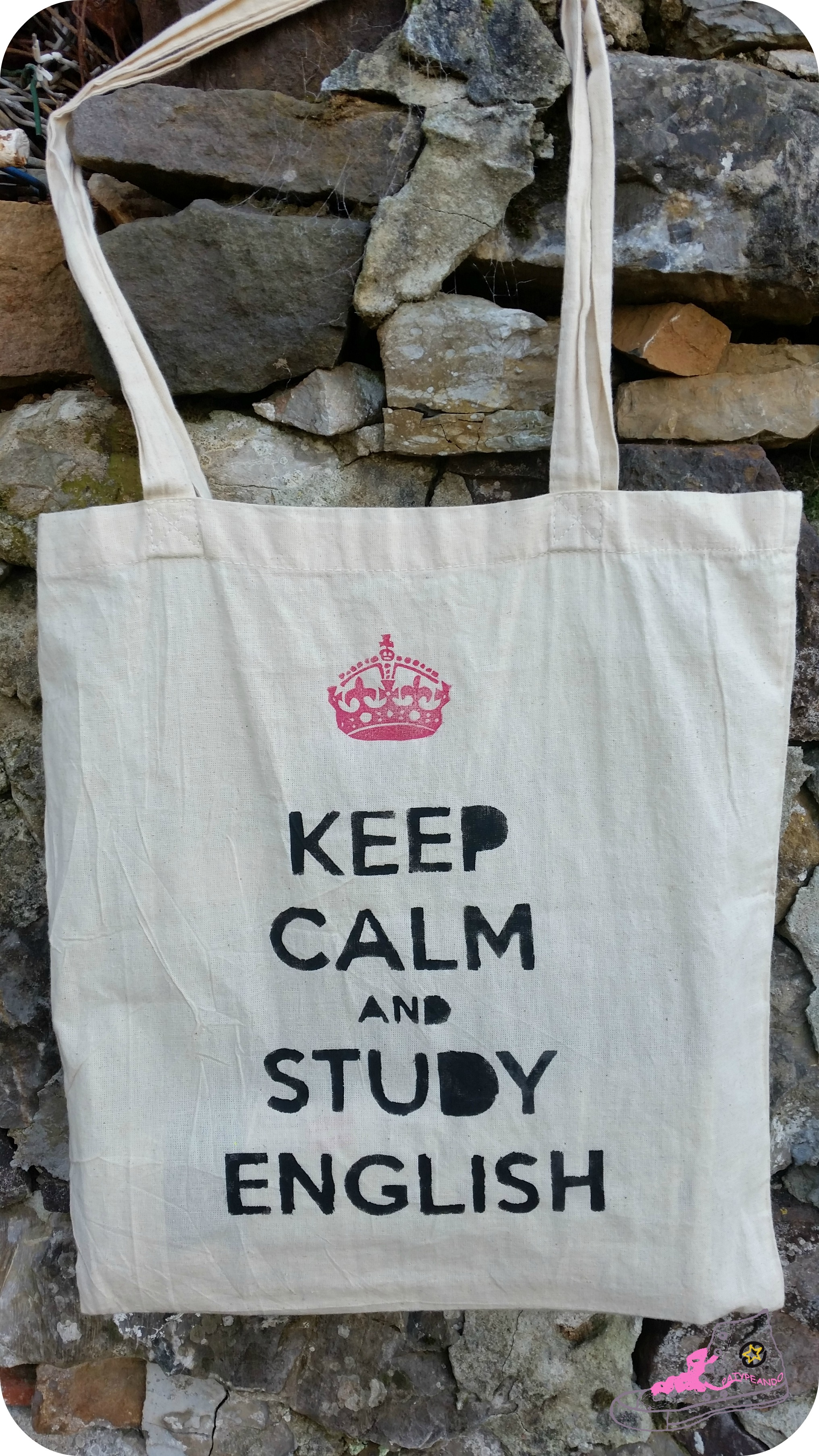 mensaje en tote bag keep calm
