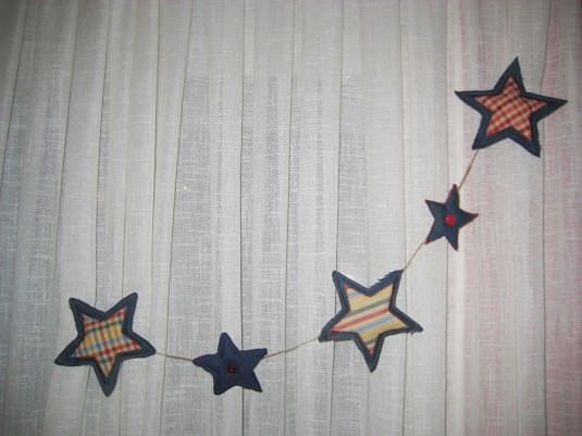 guirnalda de estrellas decorativas