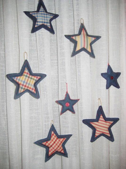 Estrellas de tela vaquera