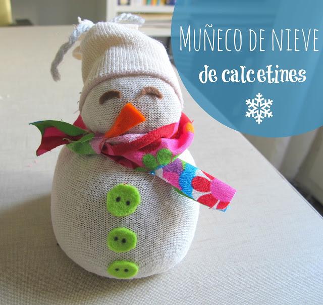 Muñeco de nieve hecho con calcetines - Handbox Craft Lovers ...