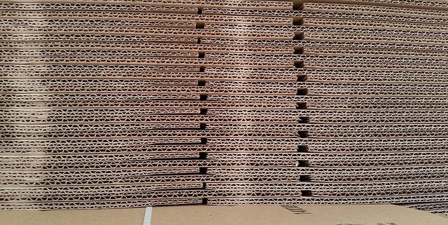 cartón atamborado o de panel de abeja