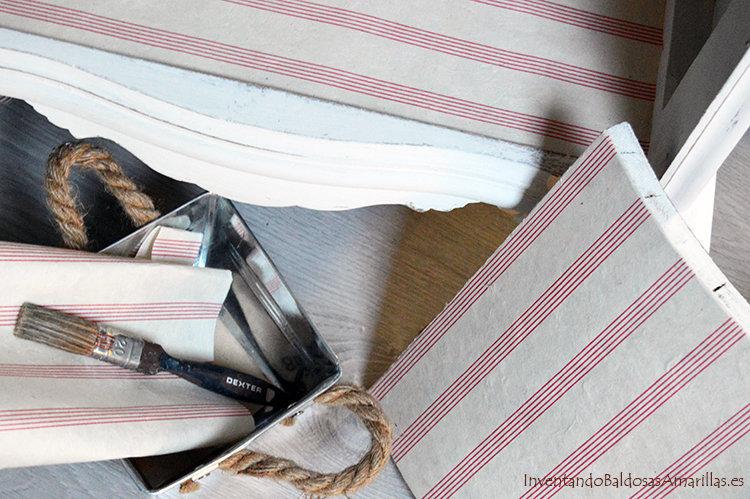 decorar con papel de rayas