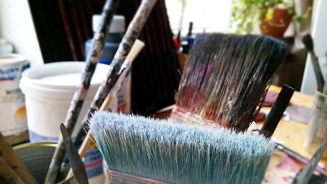 brochas y paletinas para pintar