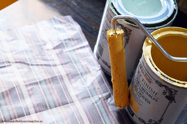 pintura tiza color mostaza
