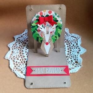Como Hacer Una Tarjeta Pop Up De Navidad Handbox Craft Lovers - Como-se-hace-una-tarjeta-de-navidad