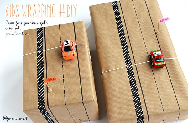 Envolver regalos para niños coches