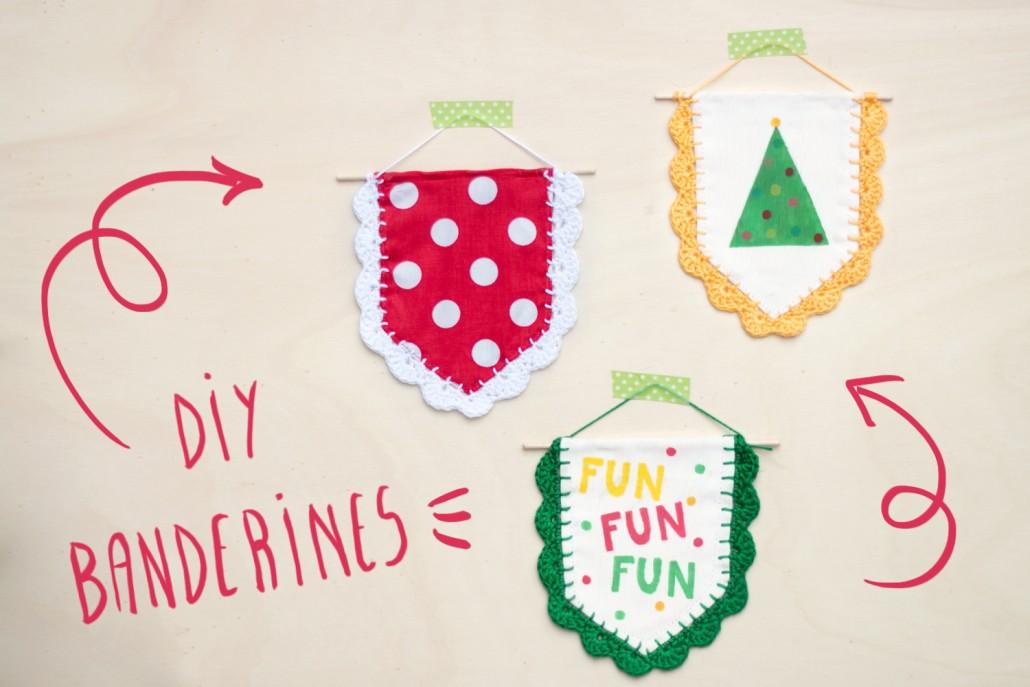Banderines de navidad con ganchillo - Handbox Craft Lovers ...
