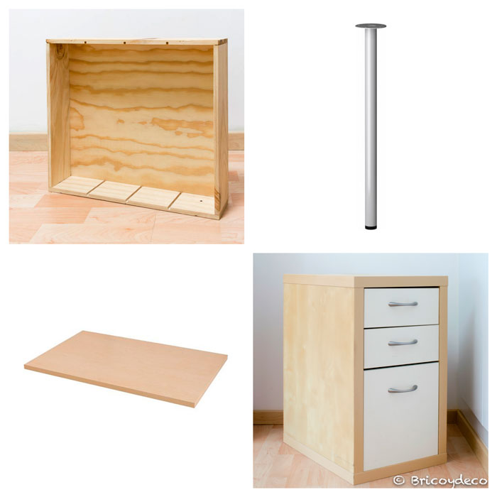 muebles para hacer un escritorio de estilo industrial