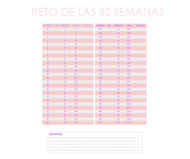 RETO 52 SEMANAS