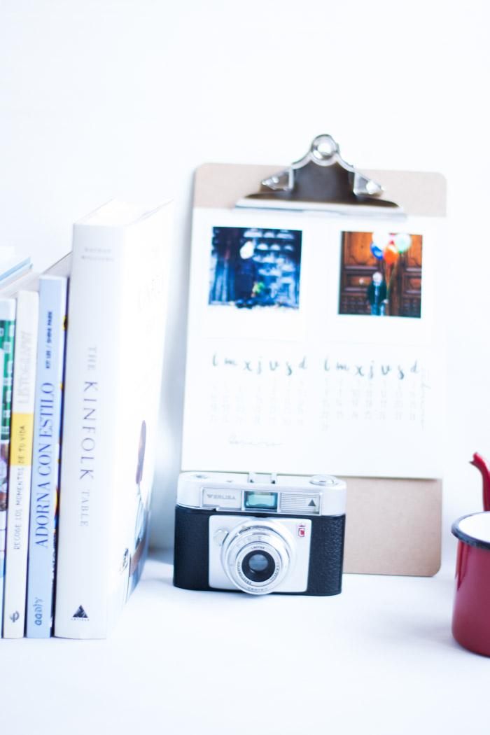 Calendario diy mini con fotos