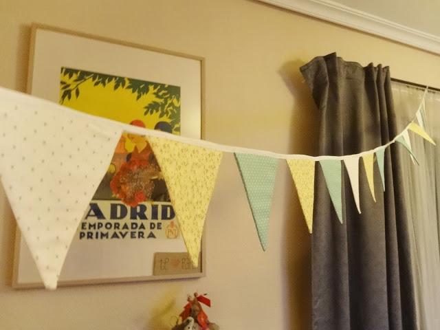 Fabric garland handmade