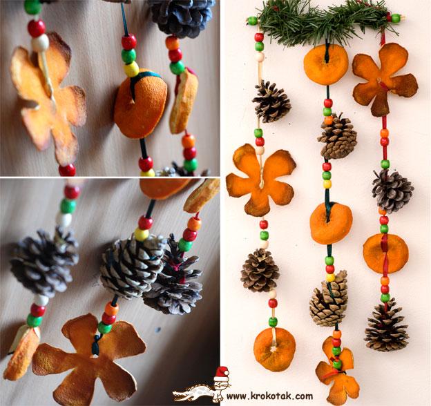 reciclar pieles de naranja para decorar la pared