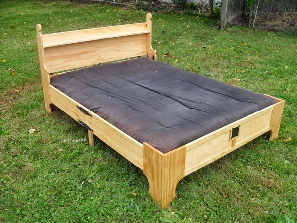baúl que se convierte en una cama
