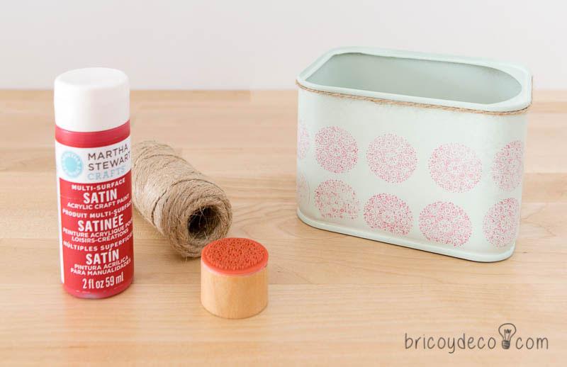 reciclar latas de conservas con sellos de caucho