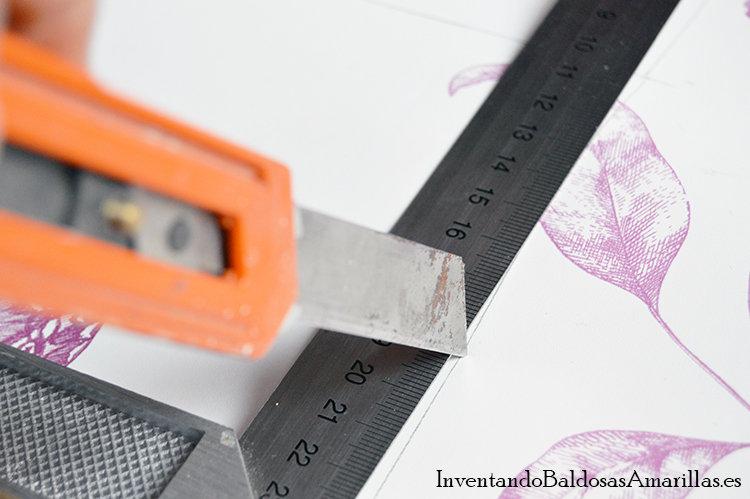 decorar con papel pintado cajones