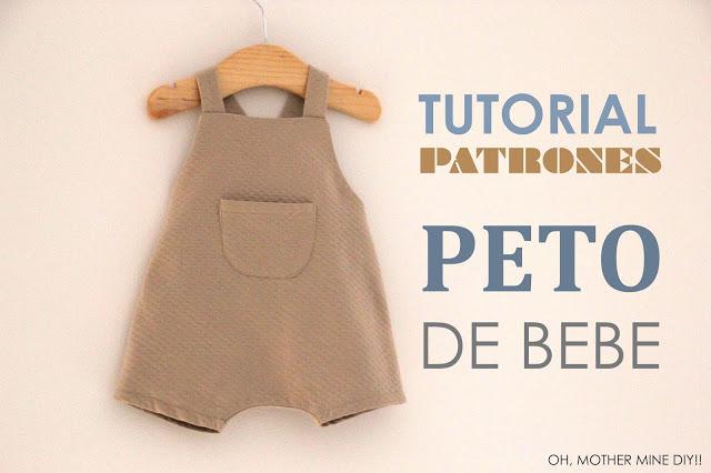DIY Peto PELELE de bebe (patrones gratis) - Handbox Craft Lovers ...