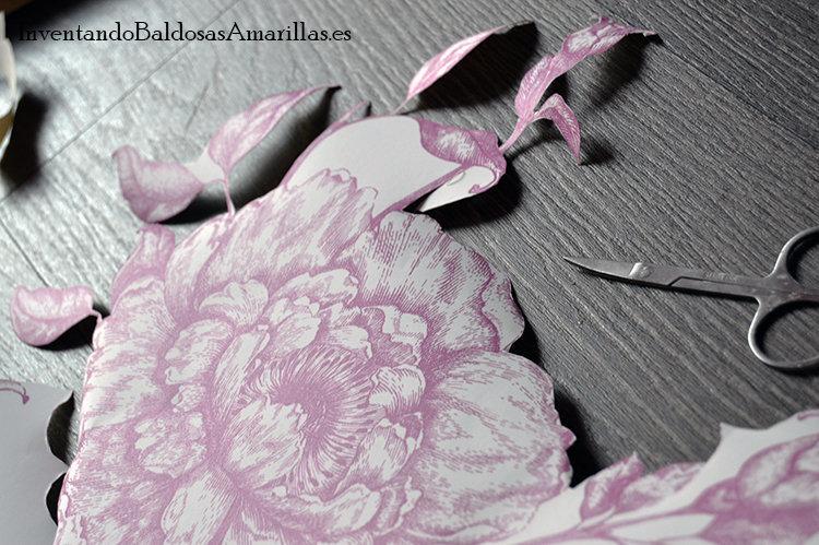 forrar cajones papel flores
