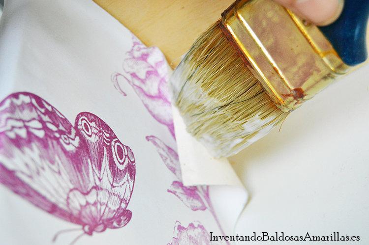forrar cajones papel pintado