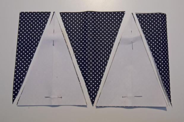 banderines de tela adhesiva para hacer una guirnalda