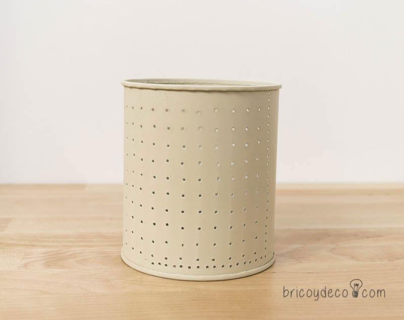 reciclar latas de conservas con pintura pizarra