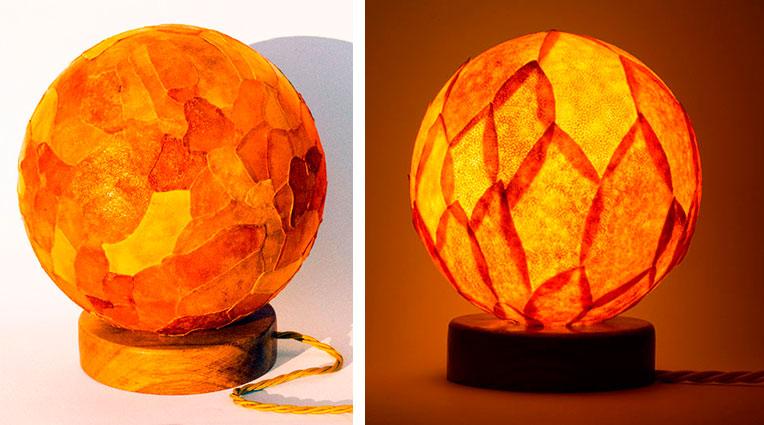 reciclar pieles de naranja para hacer una lámpara