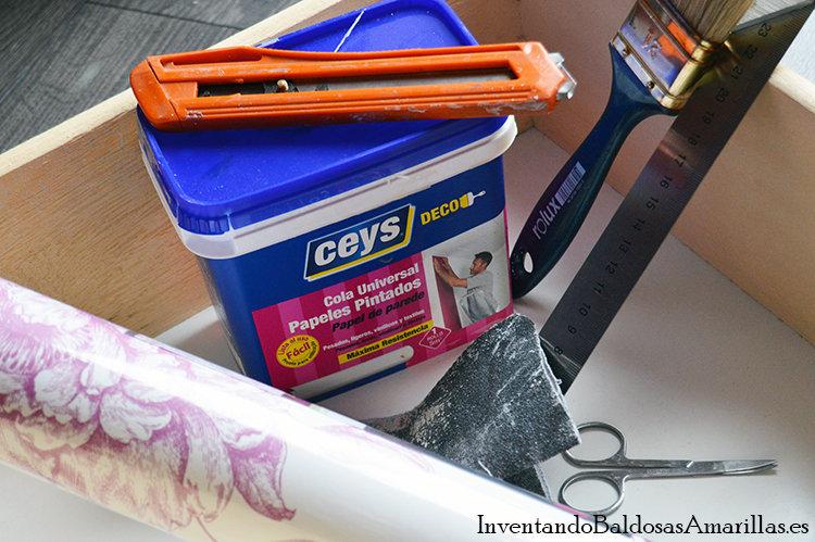 materiales decorar cajones