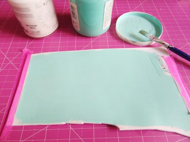 Pintar goma eva con chalk paint