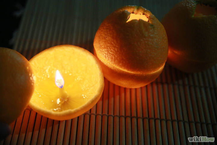 reciclar pieles de naranja para hacer velas