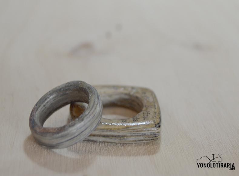 anillos papel