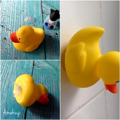 Pato-goma-colgador-de-baño-tutorial